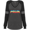 Retro Prism TV Ladies' Game LS V-Neck T-Shirt