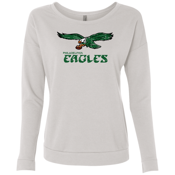 Retro Philadelphia Eagles Inspired Ladies' French Terry Scoop
