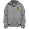 Minnesota North Stars Inspired Youth Full Zip Embroidered Hoodie - Generation T