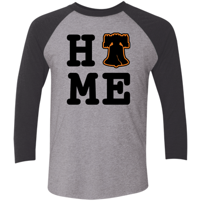 Philly is Home Hockey Edition Tri-Blend 3/4 Sleeve Baseball Raglan T-Shirt