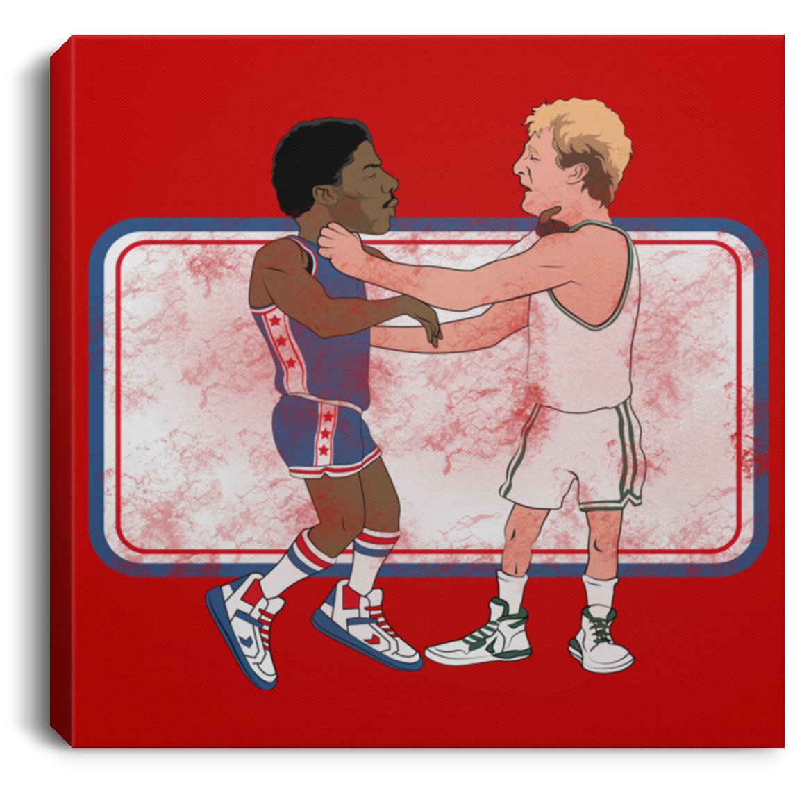 Retro 84 Fight Night Square Canvas