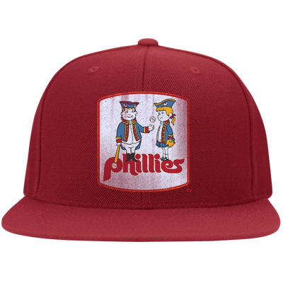 Retro Phillies Inspired Phil and Phyllis Flat Bill Twill Flexfit Cap - Generation T