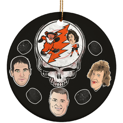Stealadelphia Hockey Ceramic Circle Ornament - Generation T