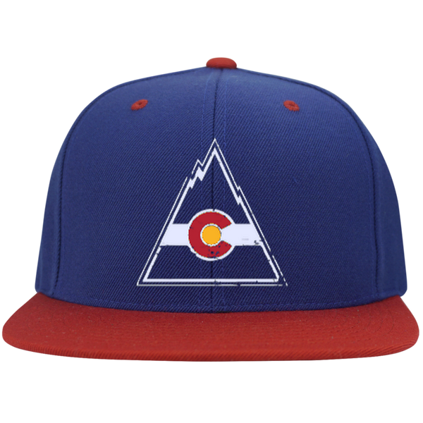 Retro Colorado Rockies Inspired Flat Bill High-Profile Snapback Hat - Generation T