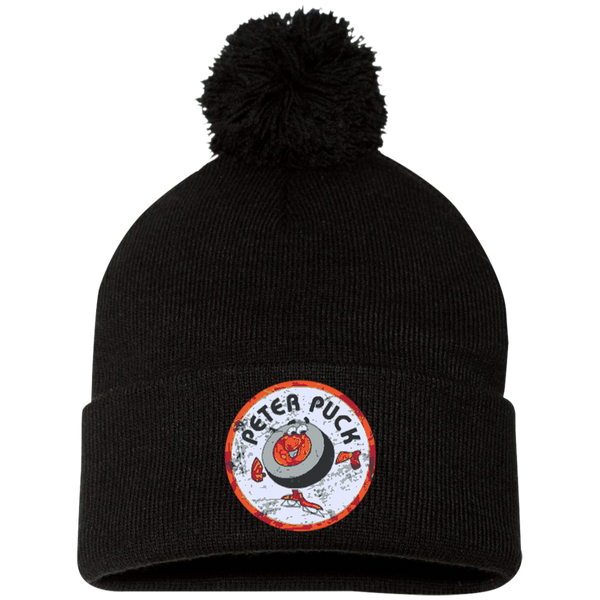 Peter Puck Circle Pom Pom Knit Cap - Generation T