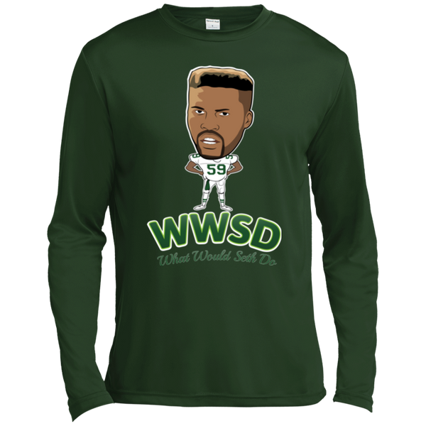 What Would Seth Do Long Sleeve Moisture Absorbing T-Shirt