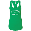 I'd Rather Be At The Vet Ladies Ideal Racerback Tank