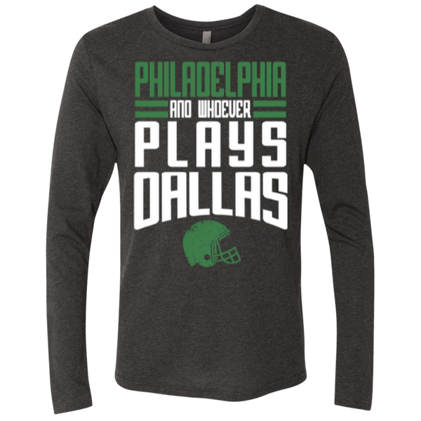 Whoever Plays Dallas Men's Triblend Long Sleeve Crew