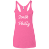 Retro South Philly Ladies' Triblend Racerback Tank