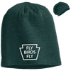 Fly Birds Fly Slouch Embroidered Beanie