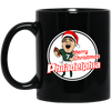 Merry Christmas Philadelphia 11 oz. Black Mug - Generation T