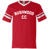 Caddyshack Inspired Bushwood CC Retro V-Neck Sleeve Stripe Jersey