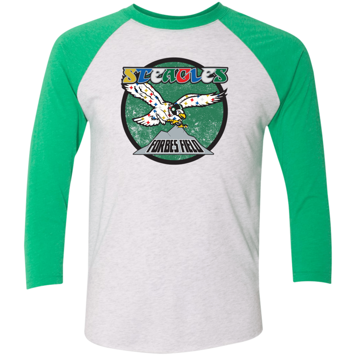 Retro Steagles Football Unisex Tri-Blend 3/4 Sleeve Baseball Raglan T-Shirt