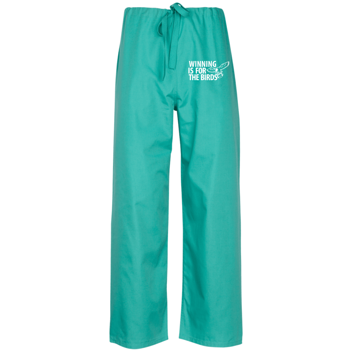 Winning is for The Birds Embroidered Scrub Pant