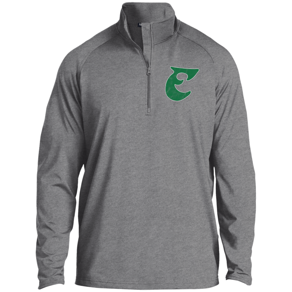 Old School Retro E Football 1/2 Zip Raglan Performance Pullover