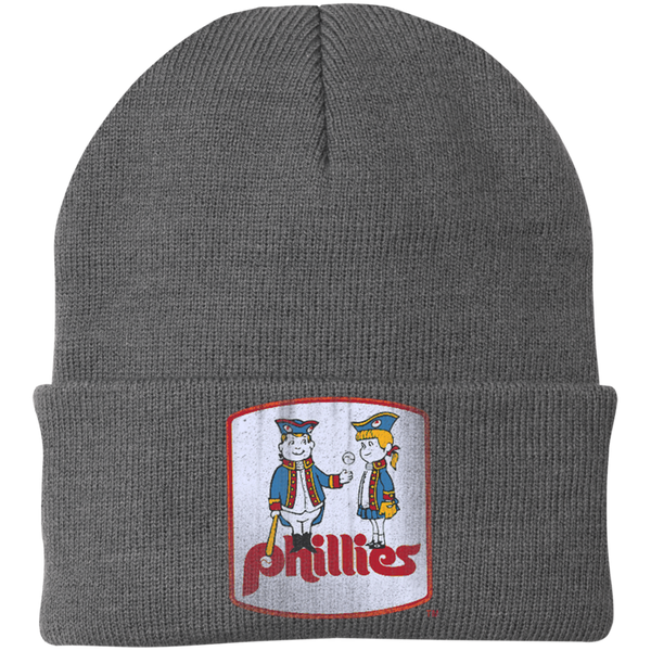 Retro Phillies Inspired Phil and Phyllis Knit Cap - Generation T