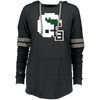 Tecmo Birds Retro Ladies Hooded Low Key Pullover