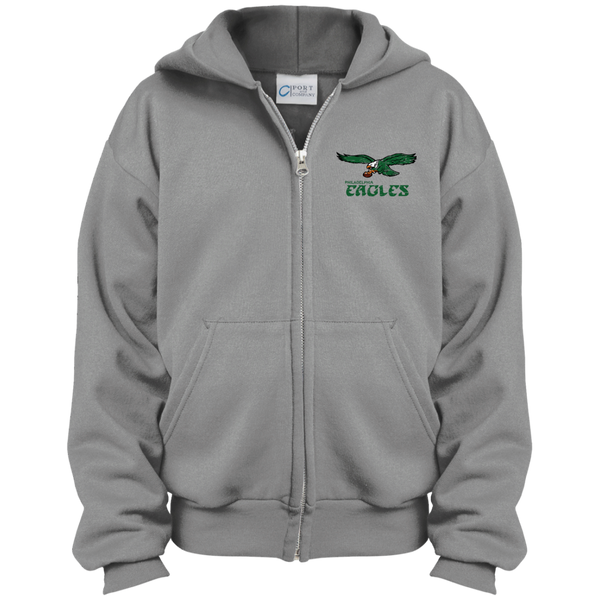 Retro Philadelphia Eagles Inspired Youth Full Zip Hoodie