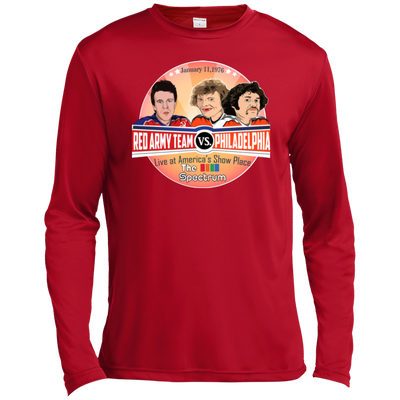 Philly vs. Red Army Inspired Long Sleeve Moisture Absorbing T-Shirt - Generation T