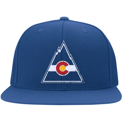 Retro Colorado Rockies Inspired Flat Bill Twill Flexfit Cap - Generation T