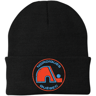 Retro Quebec Nordiques Inspired Knit Cap - Generation T