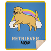 Retriever Mom Premium Sherpa Blanket
