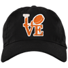 Philly Hockey Love Brushed Twill Unstructured Embroidered Dad Cap