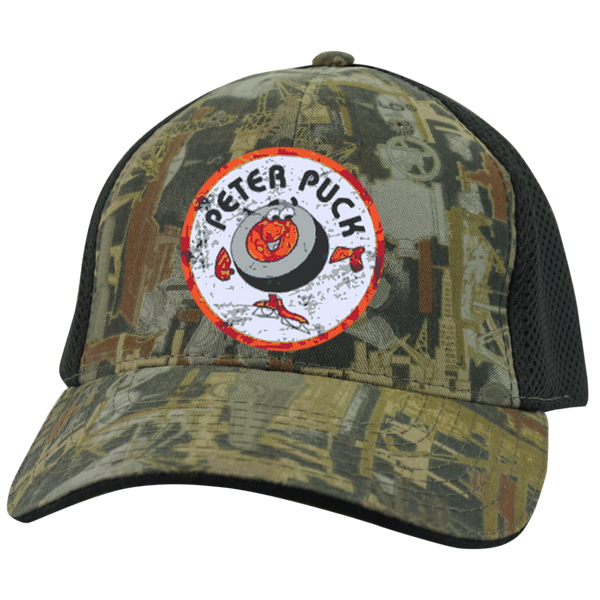 Peter Puck Circle Embroidered Camo Cap with Mesh - Generation T