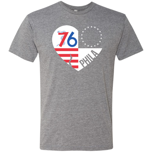 Philly Symbols Love Men's Triblend T-Shirt