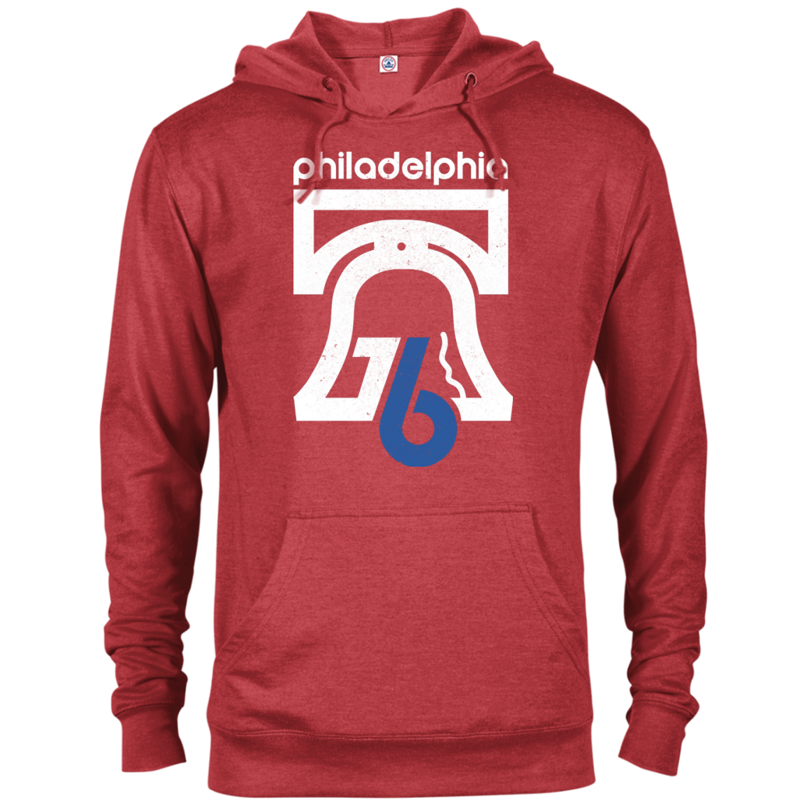 Red Philly 1976 Inspired French Terry Hoodie - Generation T
