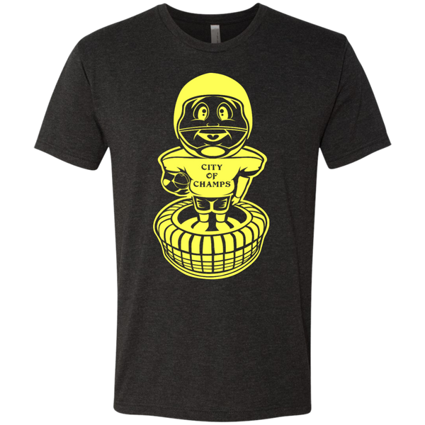 Retro Pittsburgh Football Bobblehead Tri Blend T-Shirt