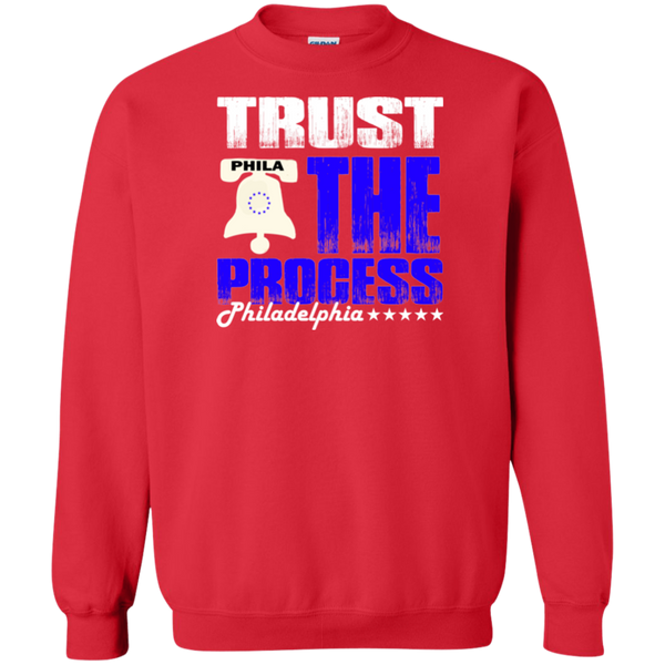 Trust the Process Red Crewneck Pullover Sweatshirt