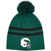 Tecmo Birds Striped Pom Beanie