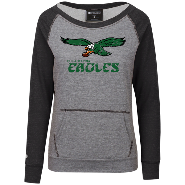 Retro Philadelphia Eagles Inspired Junior's Vintage Terry Fleece Crew