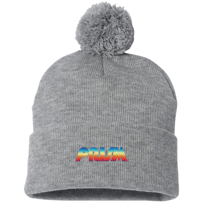 Prism TV Embroidered Pom Pom Knit Cap - Generation T