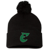 Old School E Pom Pom Knit Cap