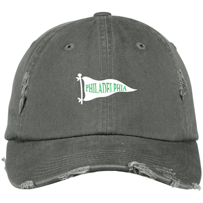 Philadelphia Pennant Embroidered Distressed Dad Cap