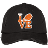 Philly Hockey Love Embroidered Distressed Dad Cap