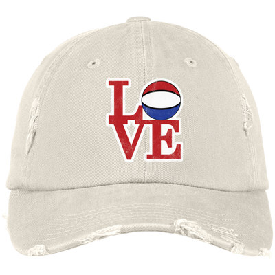 Philly Hoops LOVE Distressed Dad Cap