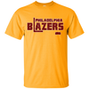 Retro Philadelphia Blazers Hockey T-Shirt in Gold - Generation T