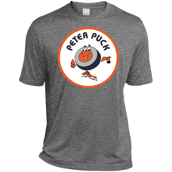 Retro Peter Puck Sport-Tek Heather Dri-Fit Moisture-Wicking T-Shirt