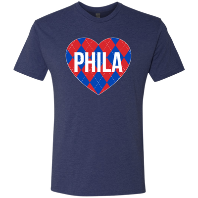 Argyle Philly Hoop Love Men's Triblend T-Shirt