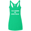 The Legend of Nick Foles Ladies' Triblend Racerback Tank