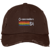 Retro Commodore 64 Distressed Embroidered Dad Cap