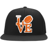 Philly Hockey Love Flat Bill Twill Embroidered Flexfit Cap