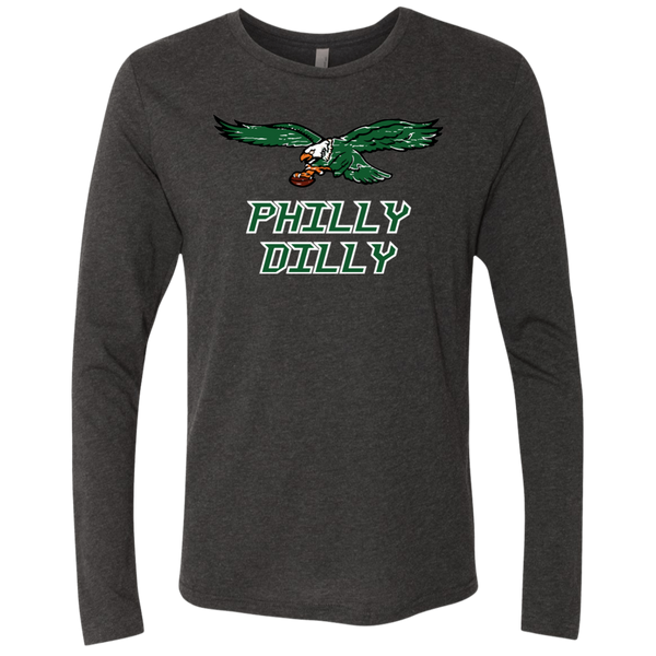 Philly Dilly Next Level Men's Triblend LS Crew