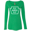 Fly Birds Fly Ladies' Triblend Long Sleeve Scoop
