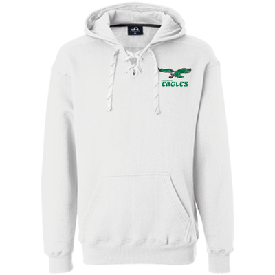 Retro Philadelphia Eagles Inspired Heavyweight Sport Lace Hoodie - Generation T