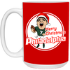 Merry Christmas Philadelphia 15 oz. White Mug - Generation T