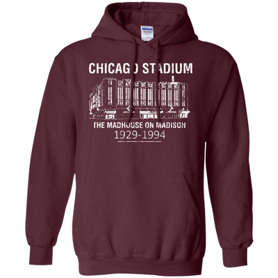 Retro Chicago Stadium Inspired Pullover Hoodie